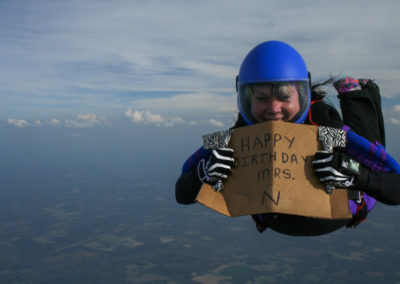 skydiving for client